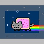 Nyan Cat Mini Canvas 6  x 4  6  x 4  x 0.875  Stretched Canvas