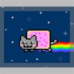Nyan Cat Canvas 14  x 11  14  x 11  x 0.875  Stretched Canvas