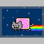 Nyan Cat Canvas 18  x 12  18  x 12  x 0.875  Stretched Canvas