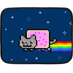 Nyan Cat Double Sided Fleece Blanket (Mini)  35 x27 Blanket Back