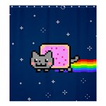 Nyan Cat Shower Curtain 66  x 72  (Large)  58.75 x64.8 Curtain