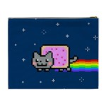 Nyan Cat Cosmetic Bag (XL) Back