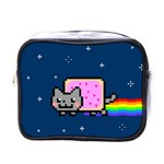 Nyan Cat Mini Toiletries Bags Front