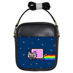 Nyan Cat Girls Sling Bags Front
