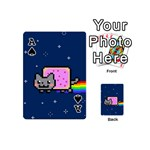 Nyan Cat Playing Cards 54 (Mini)  Front - SpadeA