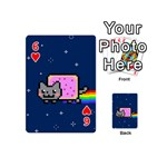 Nyan Cat Playing Cards 54 (Mini)  Front - Heart6
