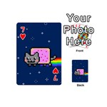 Nyan Cat Playing Cards 54 (Mini)  Front - Heart7