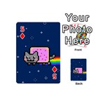 Nyan Cat Playing Cards 54 (Mini)  Front - Diamond5