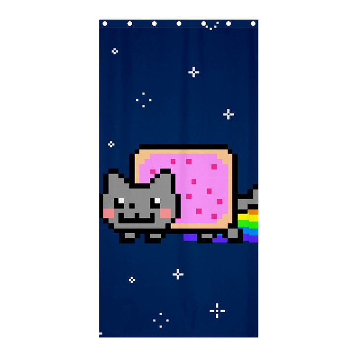Nyan Cat Shower Curtain 36  x 72  (Stall)