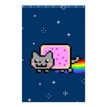 Nyan Cat Shower Curtain 48  x 72  (Small)  42.18 x64.8 Curtain