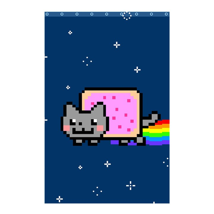 Nyan Cat Shower Curtain 48  x 72  (Small)