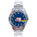 Nyan Cat Stainless Steel Analogue Watch Front