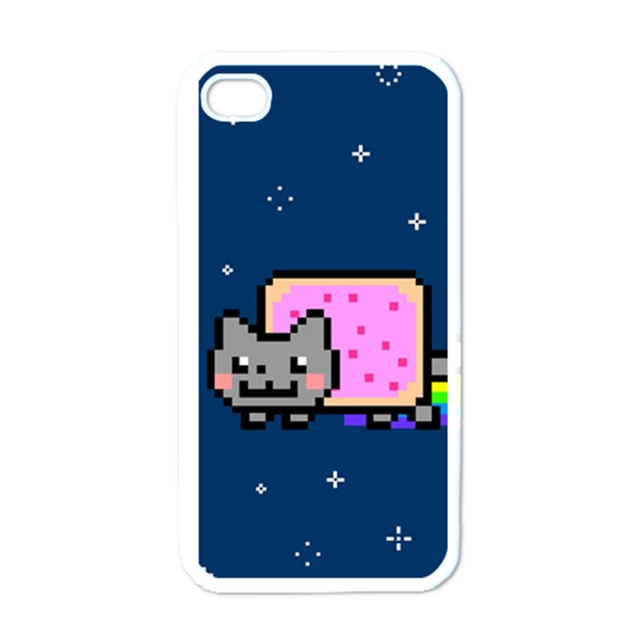 Nyan Cat Apple iPhone 4 Case (White)