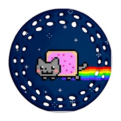 Nyan Cat Ornament (round Filigree)
