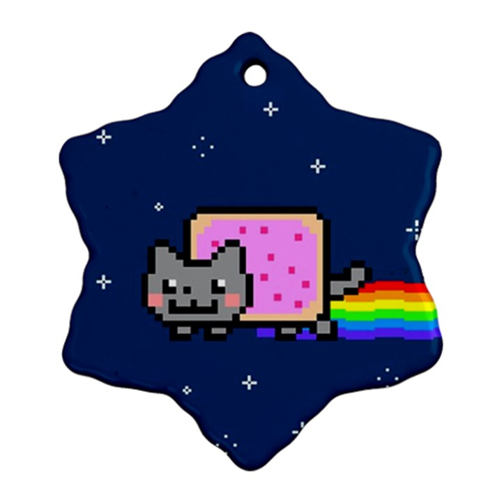 Nyan Cat Ornament (Snowflake)