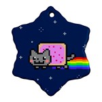 Nyan Cat Snowflake Ornament (2-Side) Front