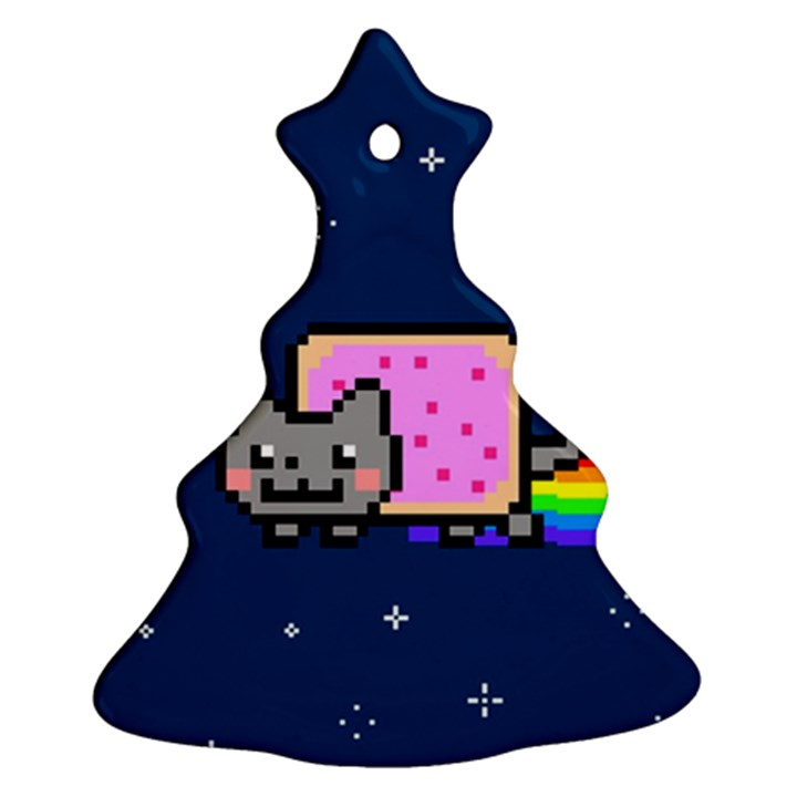 Nyan Cat Christmas Tree Ornament (2 Sides)