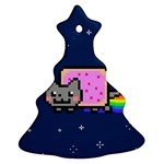 Nyan Cat Christmas Tree Ornament (2 Sides) Back