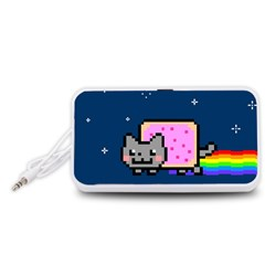 Nyan Cat Portable Speaker (white)