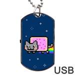 Nyan Cat Dog Tag USB Flash (Two Sides)  Front