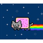 Nyan Cat Deluxe Canvas 14  x 11  14  x 11  x 1.5  Stretched Canvas