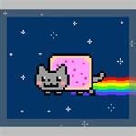Nyan Cat Deluxe Canvas 24  x 20   24  x 20  x 1.5  Stretched Canvas