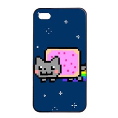 Nyan Cat Apple iPhone 4/4s Seamless Case (Black)