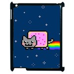 Nyan Cat Apple iPad 2 Case (Black) Front