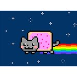 Nyan Cat BOY 3D Greeting Card (7x5) Back