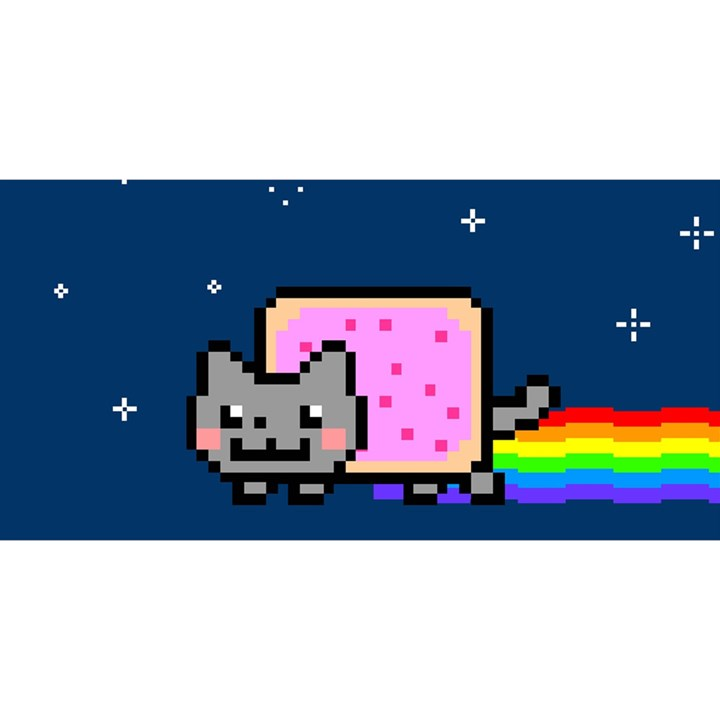 Nyan Cat YOU ARE INVITED 3D Greeting Card (8x4)