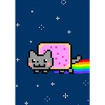 Nyan Cat Heart Bottom 3D Greeting Card (7x5) Inside