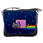 Nyan Cat Messenger Bags Front