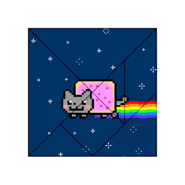 Nyan Cat Acrylic Tangram Puzzle (4  x 4 )