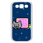 Nyan Cat Samsung Galaxy S III Case (White) Front
