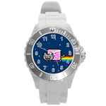 Nyan Cat Round Plastic Sport Watch (L) Front