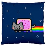 Nyan Cat Large Cushion Case (One Side) Front