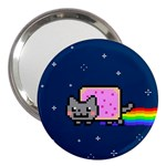 Nyan Cat 3  Handbag Mirrors Front