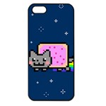 Nyan Cat Apple iPhone 5 Seamless Case (Black) Front