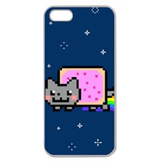 Nyan Cat Apple Seamless iPhone 5 Case (Clear)