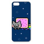 Nyan Cat Apple Seamless iPhone 5 Case (Clear) Front