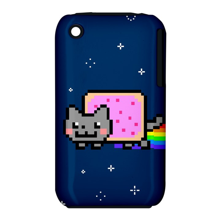 Nyan Cat Apple iPhone 3G/3GS Hardshell Case (PC+Silicone)
