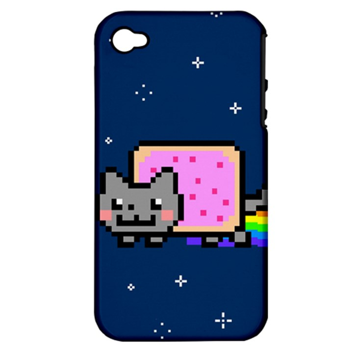 Nyan Cat Apple iPhone 4/4S Hardshell Case (PC+Silicone)