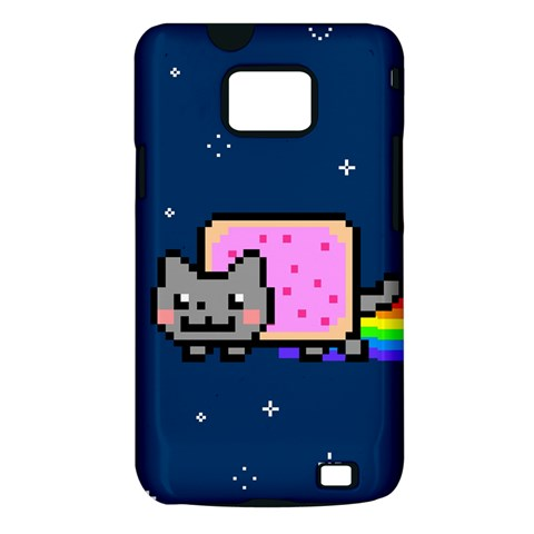 Nyan Cat Samsung Galaxy S II i9100 Hardshell Case (PC+Silicone)
