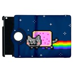 Nyan Cat Apple iPad 3/4 Flip 360 Case Front