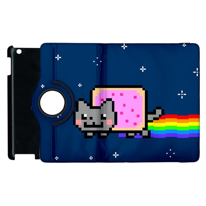 Nyan Cat Apple iPad 3/4 Flip 360 Case
