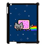 Nyan Cat Apple iPad 3/4 Case (Black) Front