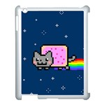 Nyan Cat Apple iPad 3/4 Case (White) Front