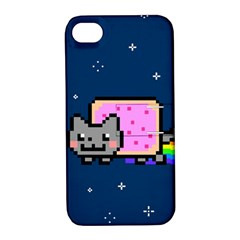 Nyan Cat Apple Iphone 4/4s Hardshell Case With Stand