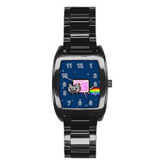 Nyan Cat Stainless Steel Barrel Watch