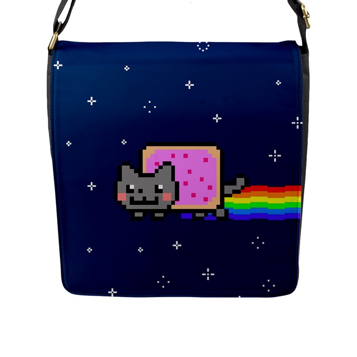 Nyan Cat Flap Messenger Bag (L)